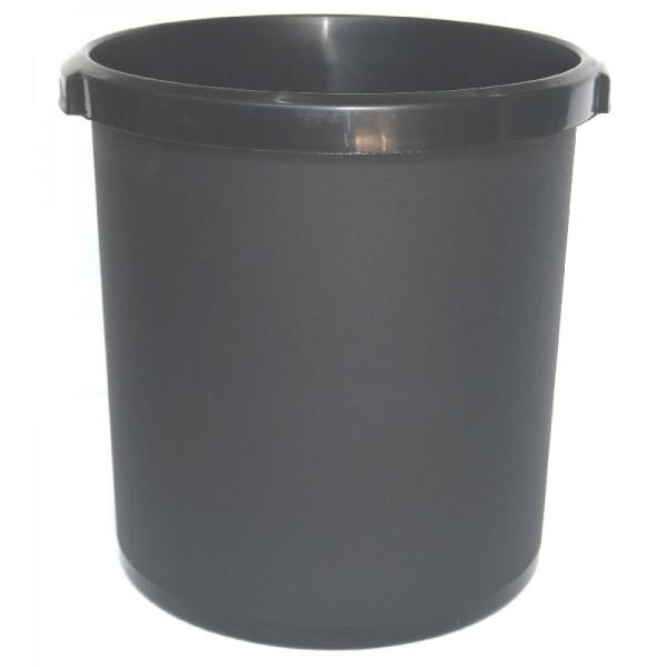Καλάθι αχρήστων πλαστικό χωρητικότητας 18lt μαύρο