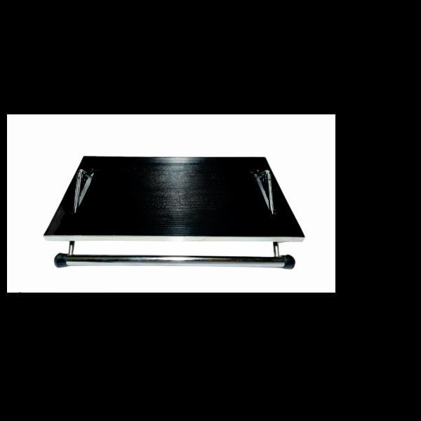 Υποπόδιο Νίκελ Βάση Δάπεδο PVC.Μαύρο