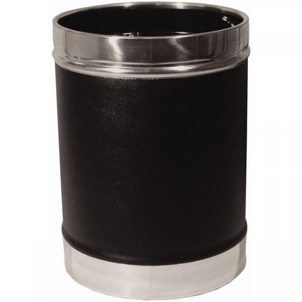 Καλάθι αχρήστων. Δερματίνη με πάτο & στεφάνι αλουμινίου, χωρητικότητας 16lt